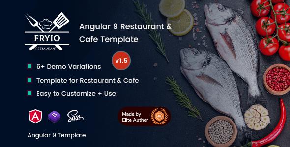 Fryio - Angular 9 Restaurant & Cafe Template