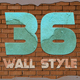 36 Grunge Wall Text Effect - GraphicRiver Item for Sale
