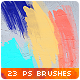 23 Handmade Watercolor Splatter Paint Photoshop Brushes - GraphicRiver Item for Sale