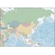 Map of the Asia Continent with Countries - GraphicRiver Item for Sale