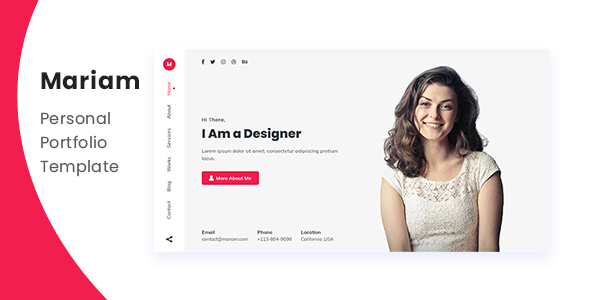 Mariam - Personal Portfolio Template