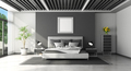 Black and white modern master bedroom - PhotoDune Item for Sale