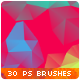 30 Low-Poly / Polygonal / Geometrical Photoshop Brushes #4 - GraphicRiver Item for Sale