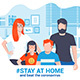Stay at Home Awareness Social Media Campaign - GraphicRiver Item for Sale