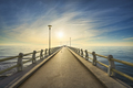 Pier or jetty and sea in Forte dei Marmi at sunset. Versilia Tuscany Italy - PhotoDune Item for Sale