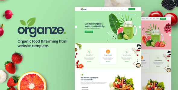 OrganZe | Organic Food & Farming HTML Template