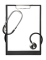 Stethoscope and black clipboard - PhotoDune Item for Sale