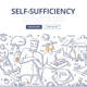 Self Sufficiency Doodle Concept - GraphicRiver Item for Sale