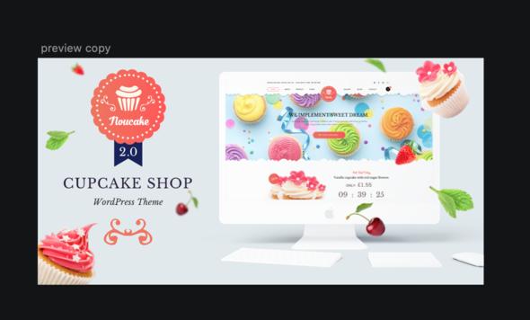 Noucake - Bakery WordPress Theme