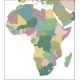 Map of the Africa Continent with Countries - GraphicRiver Item for Sale