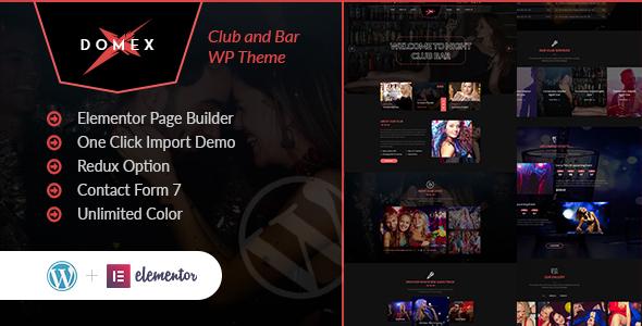 Domex – Night Club WordPress Theme Preview