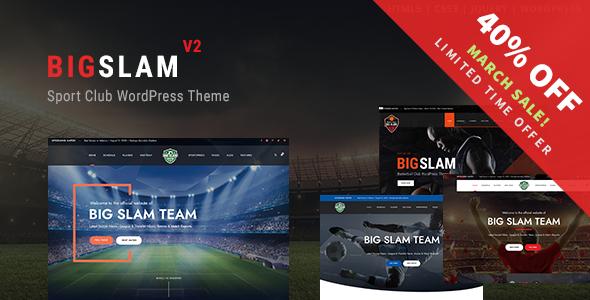 BigSlam Sport Clubs - Soccer WordPress