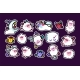 Sheep Sleeping Vector Stickers Set - GraphicRiver Item for Sale
