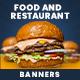 Restaurant Web Banner Set - GraphicRiver Item for Sale