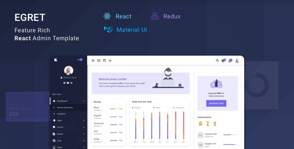 Egret - React Redux Material Design Admin Dashboard Template