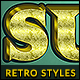 10 Retro Text Styles vol. 09 - GraphicRiver Item for Sale