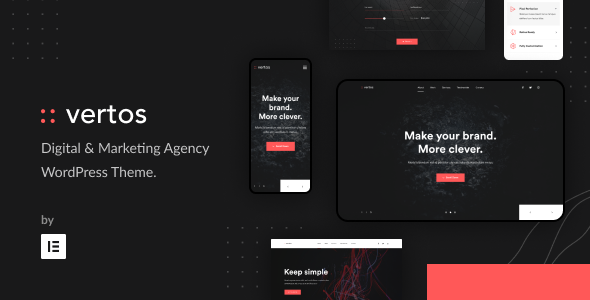 Vertos | Digital & Marketing Agency WordPress Theme Preview