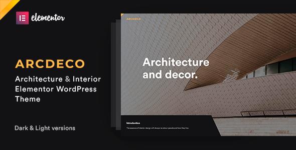 Arcdeco – Architecture & Interior Design Theme Preview