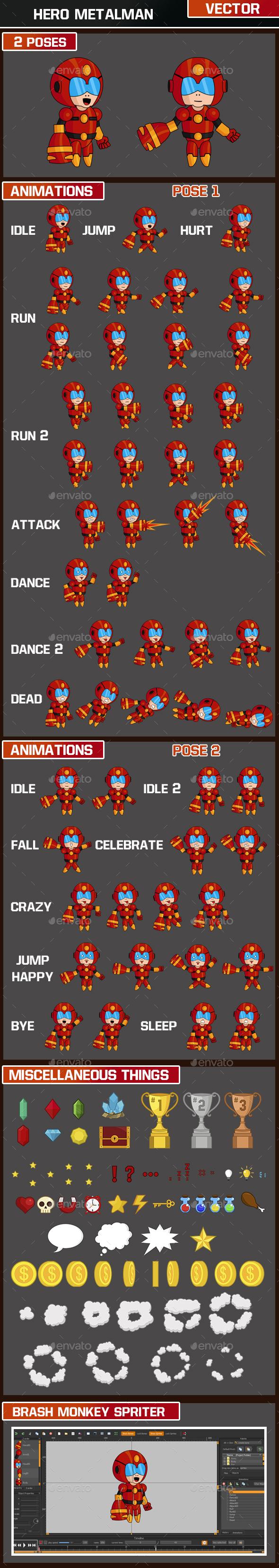 Hero Metalman Character