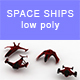 Low-poly Space ships (set 5) - 3DOcean Item for Sale