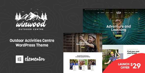 Winwood – Sports & Outdoor WordPress Theme Preview