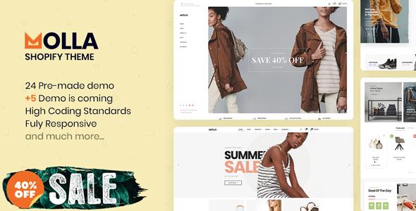 Molla - Multipurpose Responsive Shopify Theme