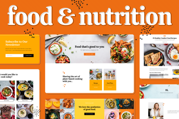 Food & Nutrition Elementor Template Kit