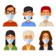 People Avatars with Protective Masks Set - GraphicRiver Item for Sale