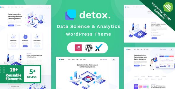 Detox - Data Science & Analytics WordPress Theme
