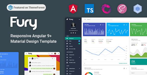 Fury - Angular 9+ Material Design Admin Template