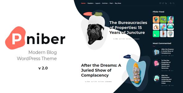 Pniber – Modern Blog WordPress Theme