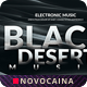 Black Desert Music Party Big Poster Design (4 Sizes) - GraphicRiver Item for Sale