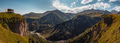 Panoramic landscape view of beautiful Kazbegi mountains, Country of Georgia - PhotoDune Item for Sale