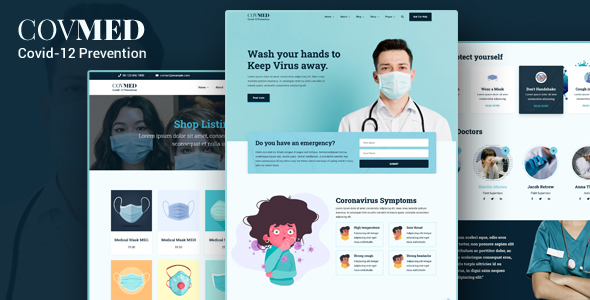 Covmed - Covid-19 Prevention Joomla Template
