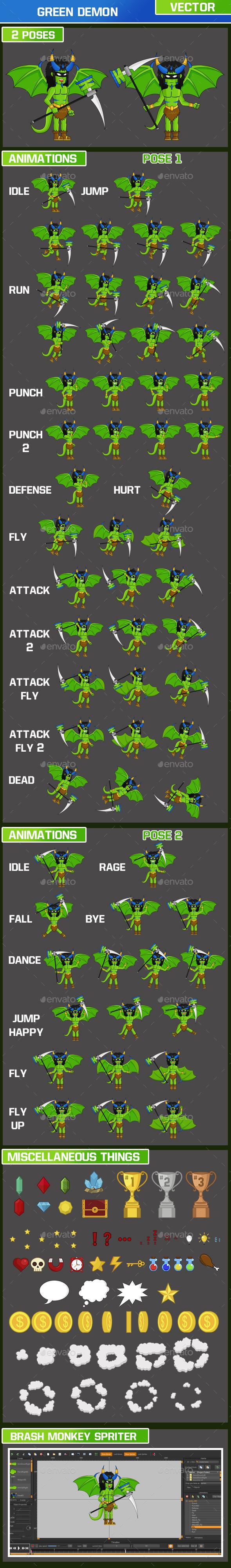 Green Demon Character