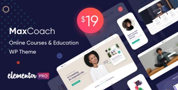 MaxCoach - Online Courses & Education WP Theme