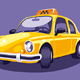 Old Vintage Yellow Taxi - GraphicRiver Item for Sale