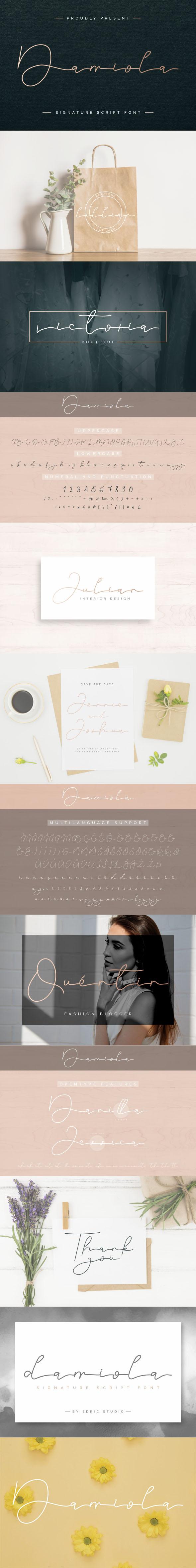 Damiola Handwriting Font