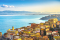 Porto Santo Stefano village, church and castle aerial view. Argentario, Tuscany, Italy - PhotoDune Item for Sale