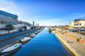 Burlamacca canal, port and lighthouse in Darsena Viareggio, Versilia, Tuscany, Italy - PhotoDune Item for Sale