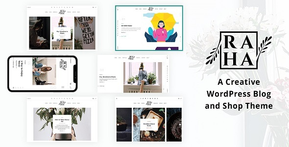 Raha – Creative WordPress Theme Preview