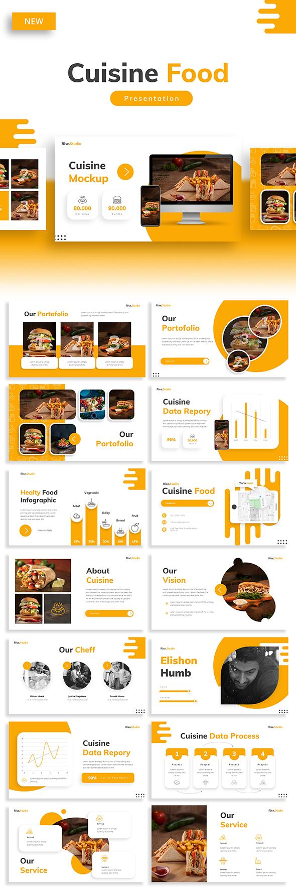 Cuisine - Food Restaurant Keynote Template