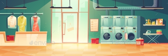Public Laundry or Dry Cleaning Washing Machines