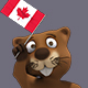 Canadian Beaver Holding Canada Flag - VideoHive Item for Sale