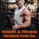 Fitness Facebook Cover Set - 05 Designs - GraphicRiver Item for Sale