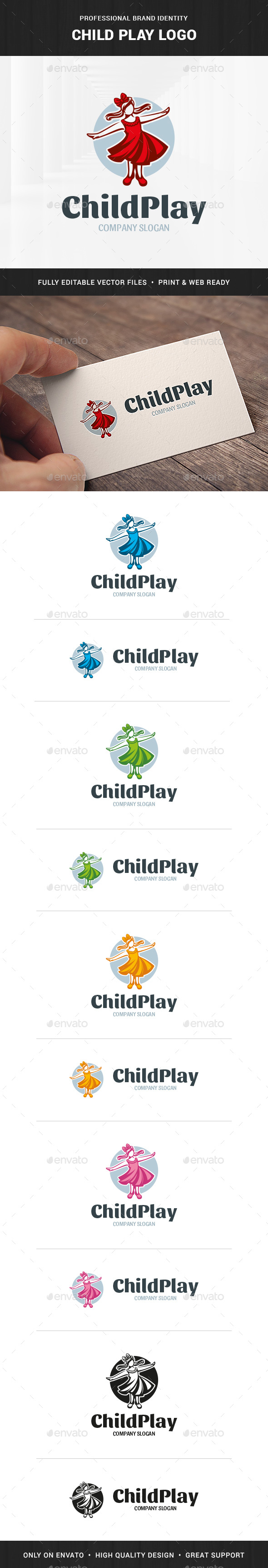 Child Play Logo Template