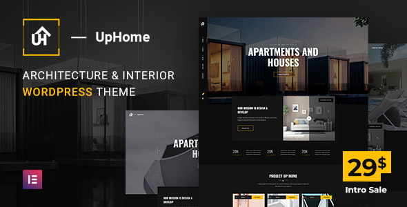 UpHome – Modern Architecture WordPress Theme Preview