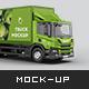 Scania P Box Truck Mockup - GraphicRiver Item for Sale