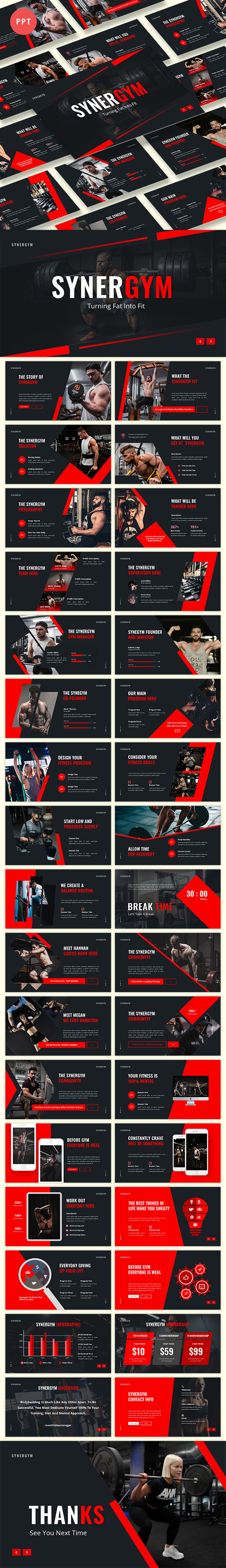 Synergym Powerpoint Template