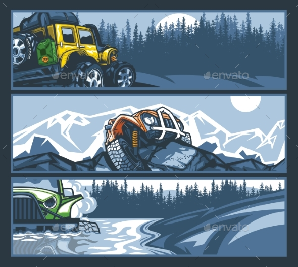 Off-Road Vehicles in Difficult Situations Banner